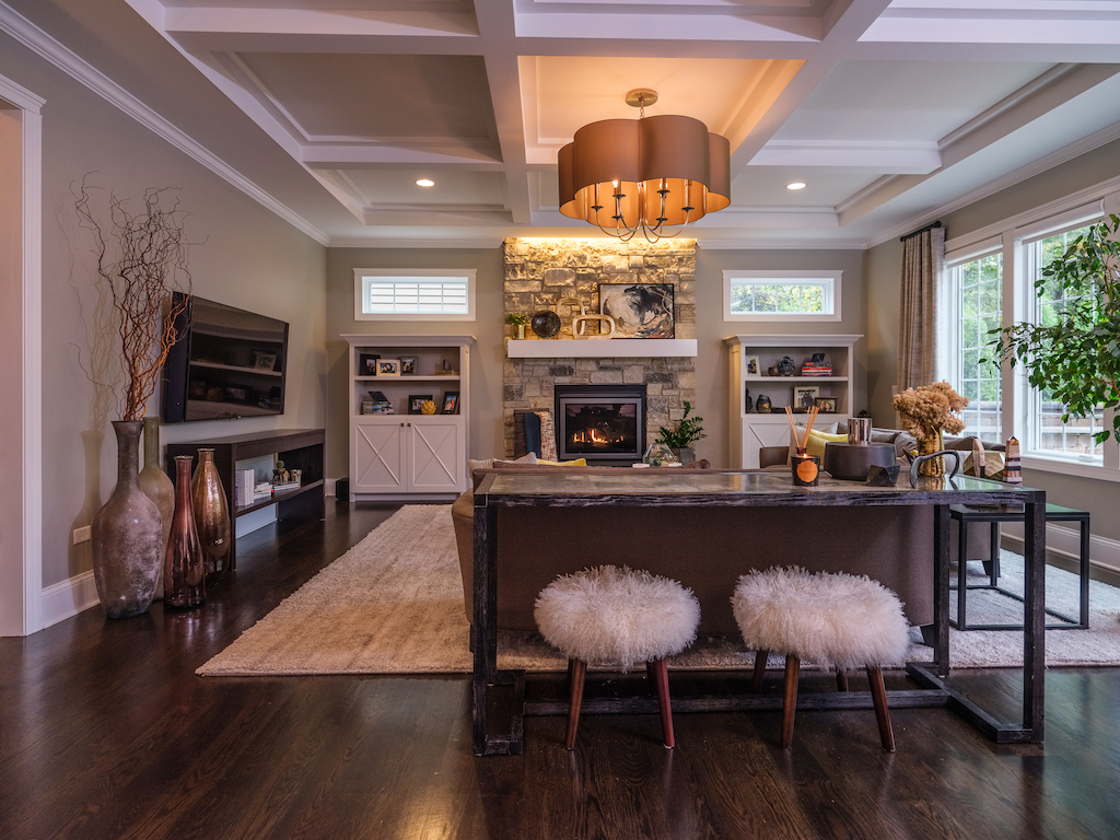 Desa Design Family Room Naperville Sunset